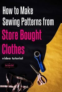 Learn how to Make dress patterns from old clothes and save the pattern to make…