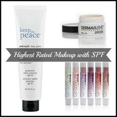 Highest Rated Makeup Products With SPF via @Jill Seiman for @BabbleEditors #makeup #skincare #beauty