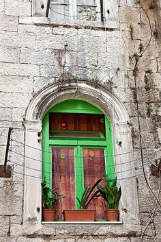 Cute window, Split, Croatia