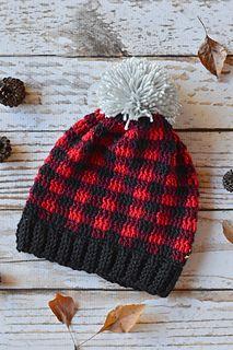 crochet plaid slouch beanie with video tutorial https://www.youtube.com/watch?v=ntloBXowFHc