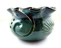 Yarn bowl, Knitting bowl, pottery yarn bowl - IN STOCK
