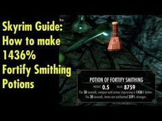 The Fortify Restoration bug in action.  Again, use it if you want or don't...  However, this will save you from having to spend any points in alchemy/smithing/enchanting because you can make Stupid strong armor/weapons as soon as you start the game if you wanted.    Buy Skyrim now to join the fun and support the channel too! http://www.amazon.com/g...