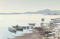 Edward Seago. Watercolor