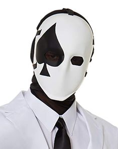 A spade is a spade, and now you can be too, when you rock this official Fortnite High Stakes Spade Mask. Boy Costumes, Halloween Costumes For Girls, Phantom Mask, Card Costume, Mens Masquerade Mask, Halloween Masquerade, Half Face Mask, Masked Man, Masks Art