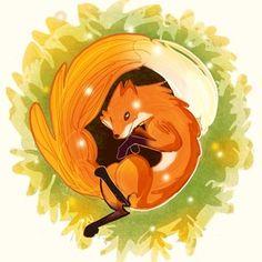 The Fox, an art print by Ashenwave Ipad Art, Warm Colors, New Art, Whimsical, Original Art, Illustration Art, Fox, Art Prints, Inktober