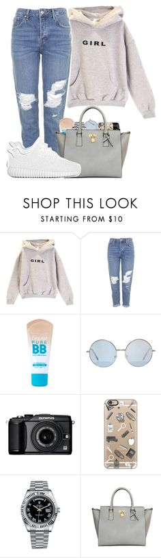 """"" by bryannilove ❤ liked on Polyvore featuring Topshop, Maybelline, Olympus, Casetify, Rolex, women's clothing, women, female, woman and misses"