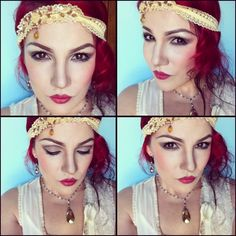Cell phone preview shots of my 1920s makeup look, I will be posting a video tutorial (for the eyes) soon, on my YouTube channel : inspire creativity/ username: zongbyrd