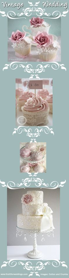 #Vintage #wedding cakes for your Vintage wedding theme