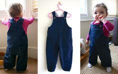 Great British Sewing Bee :: Series 2, week 4 Toddler dungarees -free pattern. Nx