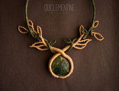 Makramee-Halskette handgemachte Baum Zweige von OuiClementine