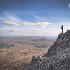 View across Connemara atop Binn Gabhar mountain peak! Connemara, Galway, Ireland (Pic Credit: Daniel O. Le Connemara, Galway Ireland, Outdoor Recreation, Grand Canyon, Nature, Hiking, The Incredibles, Photos, Adventure