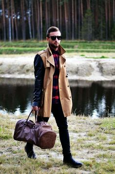 River Island Coat, River Island Bag, Next Shirt, Topman Shoes, H&M Jeans