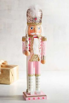 You'd be hard-pressed to find a more decorated soldier in the Pier 1 lineup than this sequined nutcracker. Although he's standing guard now, we can assure you he moves pretty fast. He was one of our most popular nutcrackers last year, so get yours early! Christmas Room, Shabby Chic Christmas, Vintage Christmas, Christmas Holidays, Christmas Crafts, Merry Christmas, Happy Holidays, Christmas Mantles, Victorian Christmas
