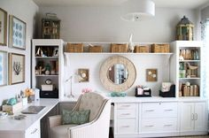 Beautiful home office makeover with lots of great details