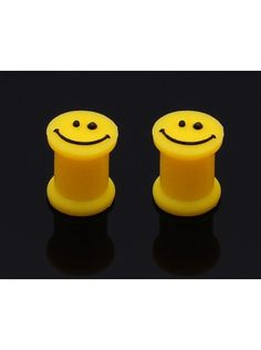 #Gift #Silicone #Smiley Ear #Plug (Pair) 50% OFF $7.99