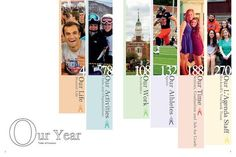 Bucknell University, Lewisburg, Pennsylvania/Table of Contents spread Yearbook Pages, Yearbook Spreads, Yearbook Covers, Yearbook Layouts, Yearbook Design, Yearbook Theme, Yearbook Ideas, Yearbook Class, Page Layout Design