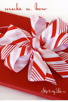 Creative Bows For Packages - Simple Ribbon Bow - Make DIY Bows for Christmas Presents and Holiday Gifts - Cute and Easy Ideas for Making Your Own Bows and Ribbons - Step by Step Tutorials and Instructions for Tying A Bow - Cheap and Crafty Gift Wrapping Ideas on A Budget http://diyjoy.com/diy-bows-gifts-packages