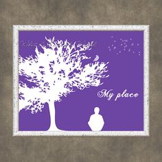 My place purple background, printable inspirational poster by WhatAPrintableWorld on Etsy