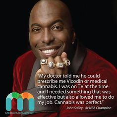 """4x NBA Champion and current TV commentator, John Salley, is a big proponent of medical marijuana. @johnsalley first started using cannabis after having foot surgery in his late 30""""s. Salley was also quoted by TMZ """"I am a proponent and believe in the advocacy of #medicalmarijuana. We see football players in AL getting busted. We see - we need to get it out. We need to move it and realize that it is something that can help the human body. It helps athletes. I didn't start smoking until my last…"""