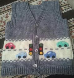 piksel [ Another version of cars, Gilet knit, pixels ] # # # # # # Pin was discovered by SuzMix knitting and crochet pattern Baby by MyPatternsCollectionThis model will be a very nice choice for your baby. Baby Boy Knitting, Vogue Knitting, Knitting For Kids, Baby Knitting Patterns, Baby Patterns, Free Knitting, Cardigan Bebe, Knitted Baby Cardigan, Knit Baby Sweaters