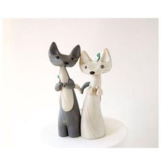 nice The Unique Cat Wedding Cake Toppers for Animal Lover