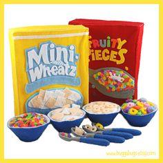 Bugga Bugs Breakfast Cereal Felt Play Food Pattern | Flickr - Photo Sharing!