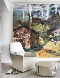A large piece of artwork can totally transform a room. Home Journal, February 2015