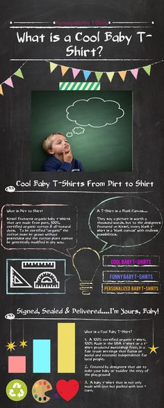This is a cute infographic to explain the process of organic kids' shirts. I would like to start buying more eco-friendly clothes, but I didn't know where to begin. Maybe I'll begin with my son and move on from there.