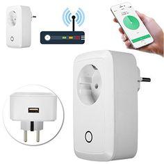 GOCHANGE Prise de Courant Intelligente, Prises Télécommandées Electrique Intelligent Contrôle à Distance Blanc pour Tablette et Smartphones…