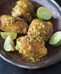 Turmeric Chicken with Sumac and Lime via the Splendid Table