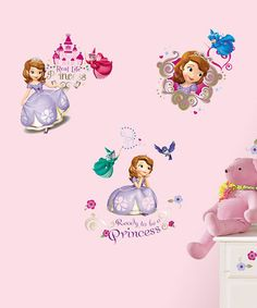 Take a look at this Sofia The First Peel & Stick Wall Decals by Disney on #zulily today!