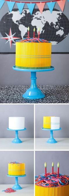 """I cant think of why I'd ever make this, but its awesome... Pencil """"Cake"""" DIY - {Back to School Ideas}"""