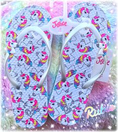 My daughter's Unicorn Sandals from her favorite store #Justice | Unicorn Flip Flops | Unicorn Rainbow Sandals | 3D Unicorn charm on silver sandal straps | Live Justice | Unicorn Rubie | It's a girls world at the Justice Store