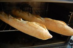Just out of the oven. We are toasting up our par baked bread from Chef Celestino Drago's bakery Dolce Forno. Serving in store today! Ahhh the smell of fresh baked bread.  http://www.cheesestorebh.com