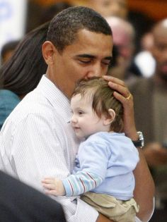 Baby loving Barack!