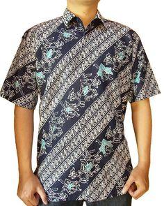 Kemeja Batik Pria 012 - Kode BP012 - Batik Garutan - Batik Cap - Bahan Katun - Puring Dormeuil England - Jahitan standar butik - Tersedia lengan panjang - Tersedia berbagai ukuran