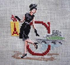 В поисках вдохновения: Алфавит Парижанки по-русски от Les Brodeuses Parisiennes Christmas Alphabet, Cross Stitch Letters, Embroidery Monogram, Sewing Stitches, Oui Oui, Vintage Crafts, Brick Stitch, Cross Stitching, Needlepoint