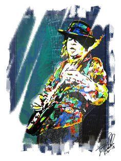 Stevie Ray Vaughan by Greg Sellars