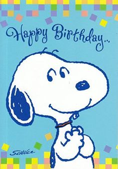 "Greeting Card Birthday Peanuts ""Happy Birthday"""