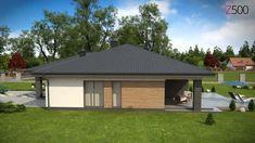 Z379 - Gotowy projekt domu parterowego we współczesnym stylu do 140 m2 en Vimeo Village House Design, Village Houses, Gazebo, Outdoor Structures, Outdoor Decor, Home Decor, New Houses, Home Layouts, Home