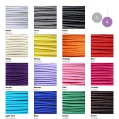 Textile cable for your.lamp! 💛💜💚🤍🧡❤️💚🤎💗🖤