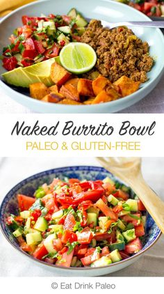 Paleo Mexican Naked Burrito Bowls | (Gluten-Free, Dairy-Free) http://eatdrinkpaleo.com.au/under-25-mexican-naked-burrito/