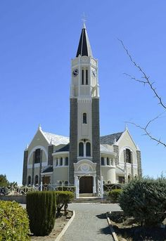 Sacred Architecture, Church Architecture, Unique Architecture, Gothic Cathedral, Church Building, Brick And Stone, Place Of Worship, Kirchen, South Africa