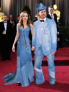 Celebrities Wearing Denim - Britney Spears and Justin Timberlake's Denim Formalwear