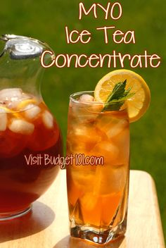 Homemade Ice Tea Syrup Concentrate