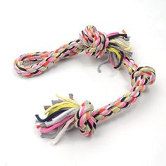 Petseeker Flossy Chews Pet Toys Cotton Blend Color Long Rope KnotsTug Dog Toy(Colors Vary) *** Hurry! Check out this great product : Dog Toys