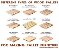 The different types of pallets you can use for garden ideas such as Garden Pallet Furniture