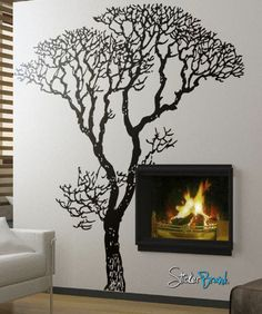 Vinyl Wall Decal Sticker Bare Tree Decoration #240 | Stickerbrand wall art decals, wall graphics and wall murals.