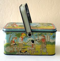 "1920's Tin Lithograph Girl Scouts Lunch Box ~ from ""California Girls"" shop"