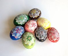 Set of 8 Hand Decorated Colours Painted Chicken Easter Egg, Traditional Slavic Wax Pinhead Chicken Egg, Kraslice, Pysanka Chicken Eggs, Farm Chicken, Easter Traditions, Egg Art, Egg Decorating, Easter Crafts, Easter Eggs, Paint Colors, Old Things